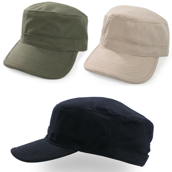 Military Hat Cap Army Cadet Men Women Casual BASEBALL Size Adjustable Strap