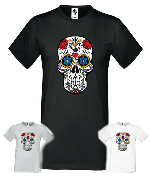 Men's Christmas Novelty Print T Shirt Explicit Top Funny Skull Joke Xmas Gift