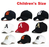 Letter B Baseball Caps Hat Girls Boys Childrens Kids Summer Sun