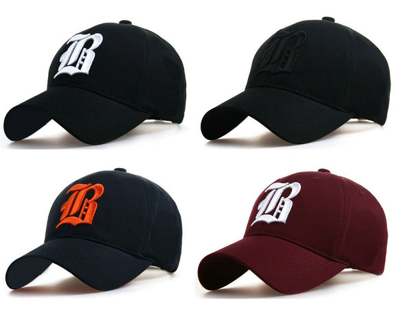 Baseball cap new cotton Mens Women hat letter A B R unisex Black hats casual