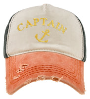 Captain Yachtin Hat Cap Hat Boat Stag Party Dress Baseball Cap 100% Cottton Gold
