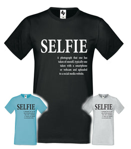 Mens Designer Selfie Fashion Short Sleeve Crew Neck T Shirt