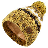 Mens Womens Cable Knitted Bobble Hat Plain Beanie Very Warm Winter Pom Wooly Cap