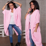 WOMENS LADIES WARM JUMPER SWEATER JACKET CAPE WRAP SHAWL 254 PONCHO