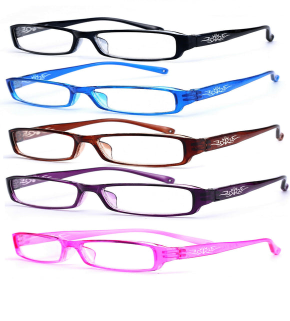 Slim Reading Glasses  form 0.00 to  4.00 Unisex Trendy Designer Spring Mosaic