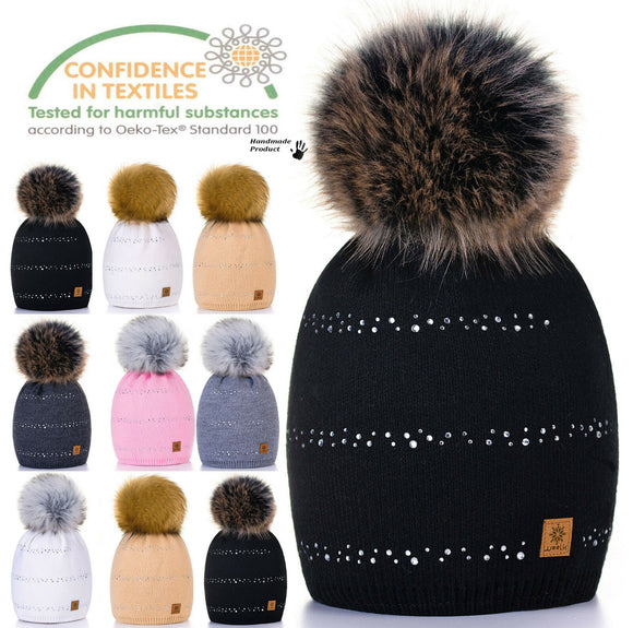 Unisex Kids Children Knitted Beanie Hat Hats Cap Winter Worm Girls Boys Bubble L