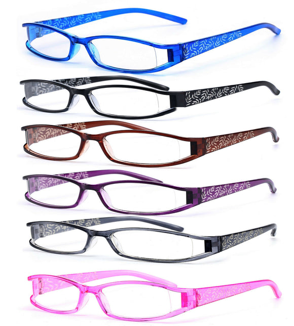 Slim Reading Glasses form 0.0 to  4.00 Unisex Trendy Designer Spring Geek Le