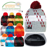 Men Winter Beanie Hat Knitted CRYSTAL Ladies Fashion Large Pom Pom Gifts 3