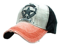 Men Women Casual BASEBALL CAP HAT Orange Star BACK Size Adjustable Strap Unisex