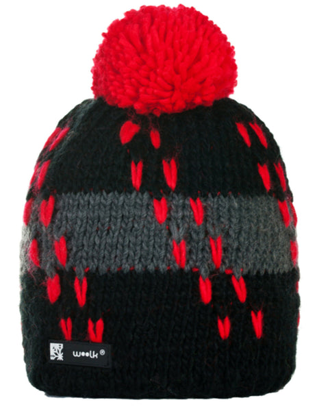 Mens Womens Cable Knitted Bobble Hat Beanie Very Warm Winter Pom Wooly Cap A2