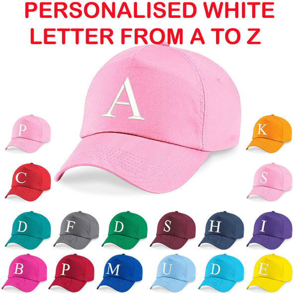 Personalised Kids Embroidery Baseball Cap Girls Boys Childrens Hat Summer A to Z