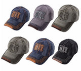 Mens Classic Plain Adjustable Baseball Caps  JB WORK CASUAL SPORTS LEISURE