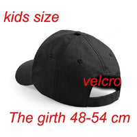 A-Z Embroidered Baseball Caps Hat Girls Boys Childrens Kids Summer black
