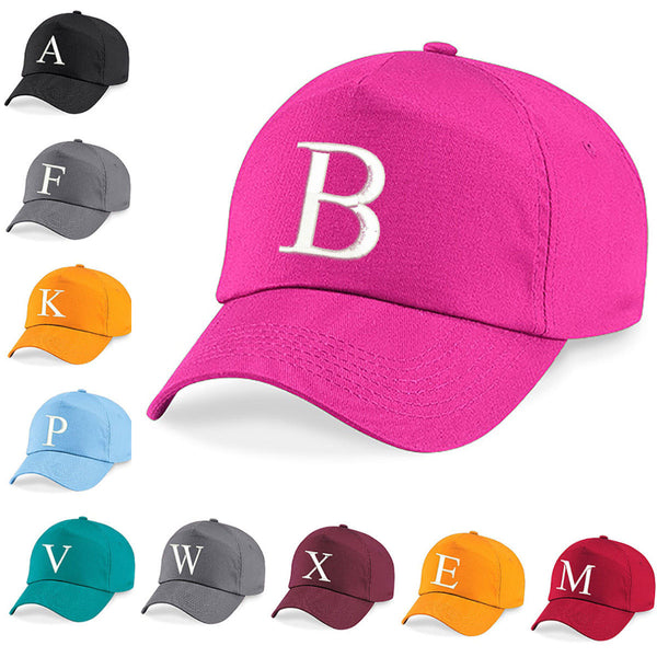 Kids Embroidery Baseball Cap Girls Boys Junior Children Hat Summer A Z Fuchsia