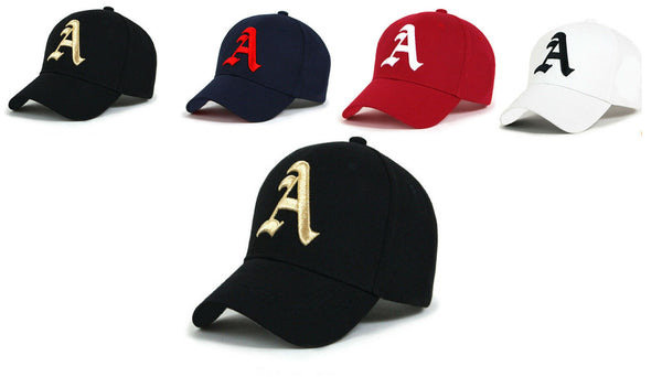 Baseball cap new cotton Mens  Women  hat letter A unisex Black hats casual hat A