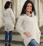 Casual Ladies Womens Worm Sweater CARDIGAN with a Hood Zip Jacket Cape poncho