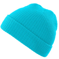 Beanie Hat Mens Ladies Knitted Wooly Winter Oversized Slouch Hat Cap pop