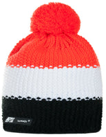 Mens Womens Cable Knitted Bobble Hat Beanie Very Warm Winter Pom Wooly Cap Red
