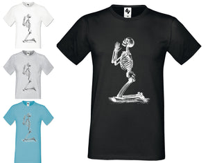 Mens Designer Skeleton Fashion Short Sleeve Halloween Crew Neck t shirt