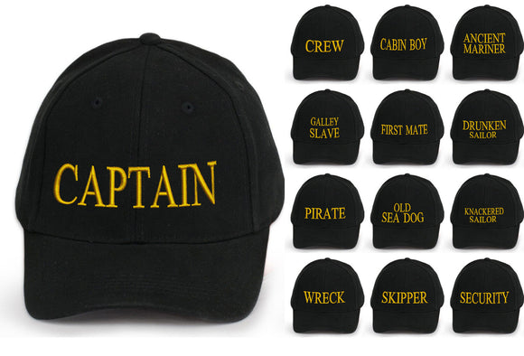 captain baseball cap cotton Mens  Women Family inscription lettering black neo y
