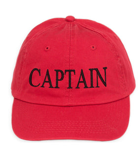 captain baseball cap cotton Mens  Women Family inscription lettering red  blac