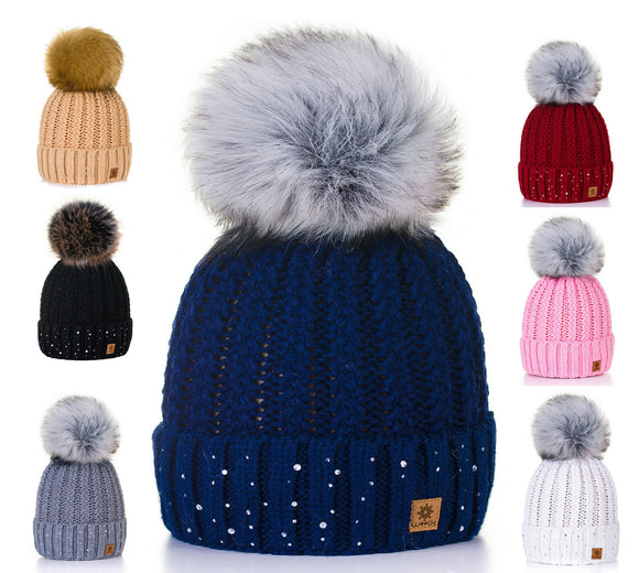 Unisex Kids Children Knitted Beanie Hat Hats Cap Winter Worm Girls Boys Bubble 5
