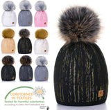 Mens Womens Cable Knitted Bobble Hat Beanie Very Warm Winter Pom Wooly Cap Zuzy