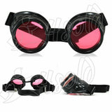 Cyber GOGGLES STEAMPUNK GOTH OVAL PLASTIC WELDING  SUNGLASSES 100% UV400