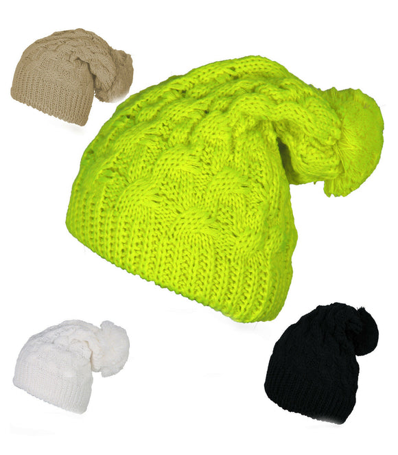 Unisex Neon Beanie Ladies Oversized Slouch Beanie Hat Cap Skateboard Winter Hats