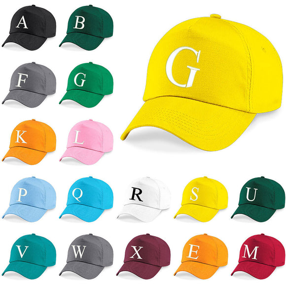 Kids Embroidery Baseball Cap Girls Boys Junior Children Hat Summer A Z Yellow