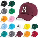 Baseball Cap Kids Letter Hat Girls Boys Children Kids Summer Bottle Burgundy