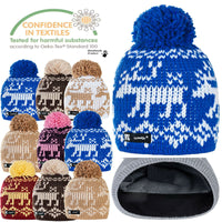 Men Women Winter Beanie Hat Knitted CRYSTAL Ladies Fashion Pom Pom Gifts