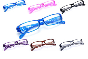 Slim Reading Glasses  form 0.0 to  4.00 Unisex Trendy Designer Spring Geek Flowe