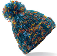 Mens Womens Kids Cable Knitted Bobble Hat Beanie Very Warm Winter Pom Wooly Cap
