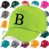 Kids Embroidery Baseball Cap Girls Boys Junior Children Hat Summer A Z Lime