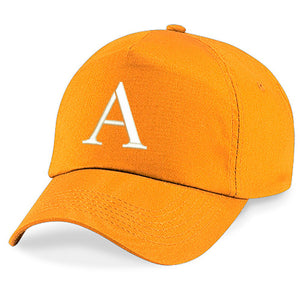 Kids Embroidery Baseball Cap Girls Boys Junior Children Hat Summer A Z Orange