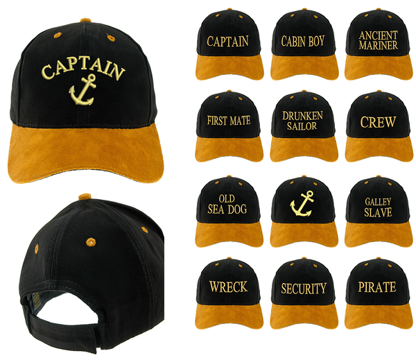 Marine Baseball Cotton Mens Women Family Black Gold Cap Officers Captain Crew