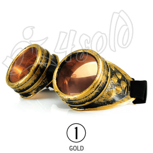 WELDING CYBER GOGGLES STEAMPUNK COSPLAY GOTH ANTIQUE VICTORIAN WITH SPIKES 1