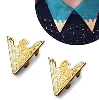 2 Pieces Blouse Shirt Metallic Metal Pointed Collar Clips Wing Tips  22 models