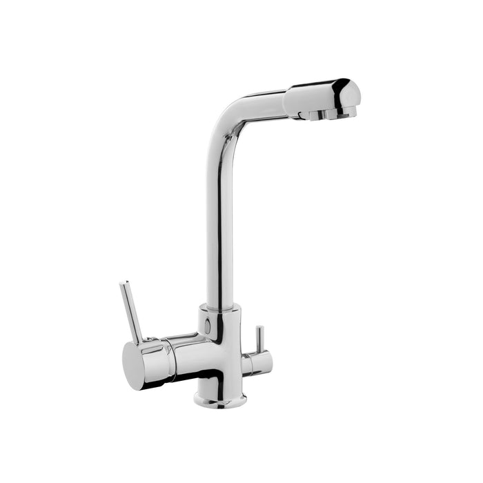 Volte Brass Kitchen Mixer W. Outlet For Purified Water Two Function Swivel Spout