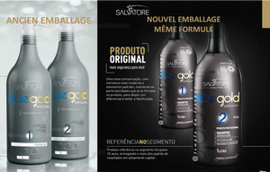 2*1L Kit Salvatore Blue Gold Premium Kit Lissage Tanin | Taninoplastie