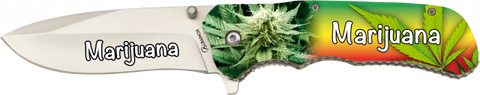 3D Marijuana Lock Knife (AW1072)