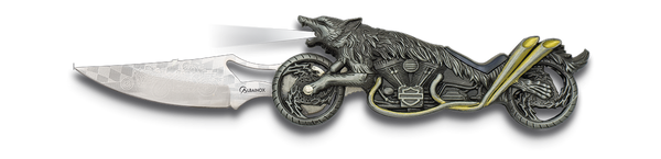 Wolf Biker (Light) Lock Knife (AW307)