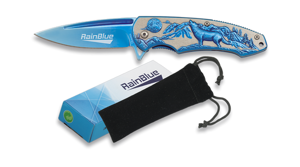 Rain-Blue Wolf Lock Knife (AW517)