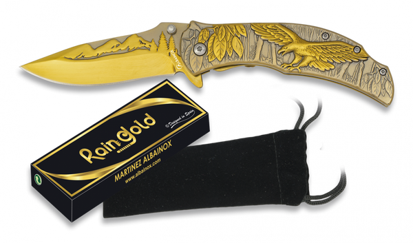 Rain Gold Eagle Lock Knife (AW518)