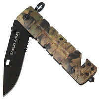 Camo Survival Lock Knife (AW1146)
