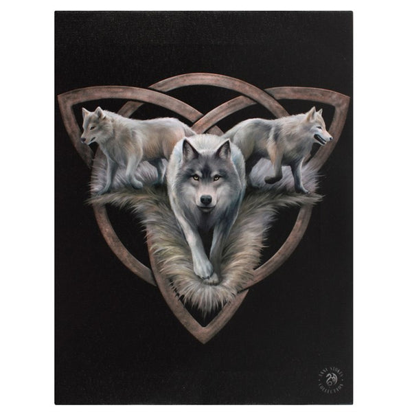 Wolf Trio Canvas - Anne Stokes (AW450)