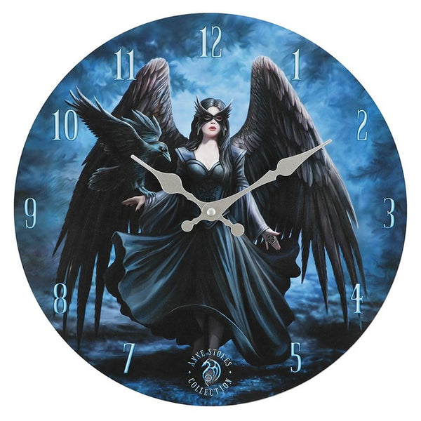 Raven (Wall Clock) Anne Stokes (AW523)