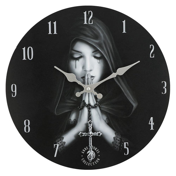 Gothic Prayer (Wall Clock) Anne Stokes (AW519)