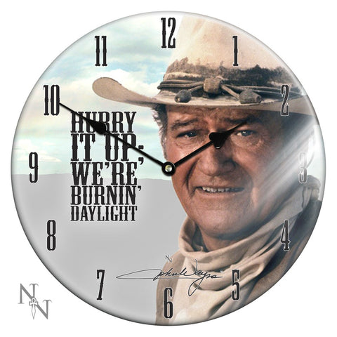 John Wayne Glass Clock (AW64)
